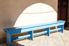Blue wooden bench Royalty Free Stock Photo