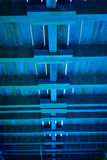 Blue Wooden Ceiling Stock Photos