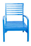 Blue Wooden chair isolated over white, with clipping path Royalty Free Stock Photos