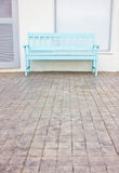 Blue Wooden Chair. Royalty Free Stock Photography