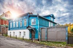 Wooden cottage on Nikolskaya Royalty Free Stock Images