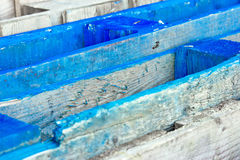 Blue wooden crates Stock Image