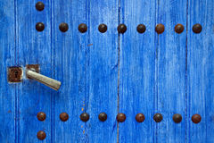 Blue wooden door Stock Photos