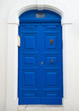 Blue wooden door. Royalty Free Stock Image