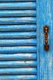 Blue wooden door Stock Photo