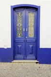 Blue Wooden Door Royalty Free Stock Photography