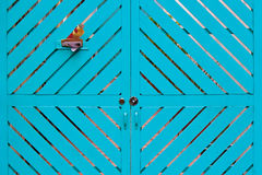 Blue wooden door Royalty Free Stock Image