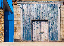 Blue wooden door Royalty Free Stock Photos