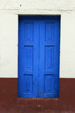 Blue Wooden Door in a Building Royalty Free Stock Photography