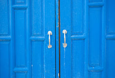 Blue wooden door Stock Images