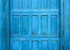 Blue wooden door detail Stock Image
