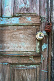 Blue wooden door, grunge Royalty Free Stock Photography