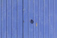 Blue wooden door Stock Image