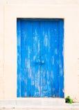 Blue wooden door Royalty Free Stock Photography