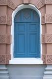 Blue wooden door Royalty Free Stock Photos