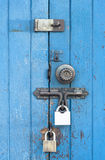 Blue wooden door. Stock Image