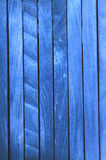 Blue wooden fence Royalty Free Stock Photos