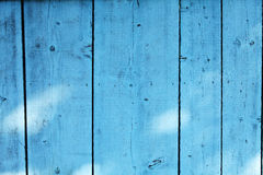 Blue wooden fence Stock Images