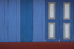 Blue wooden fence Royalty Free Stock Images