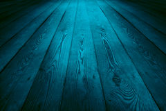 Blue wooden floor background Stock Photo
