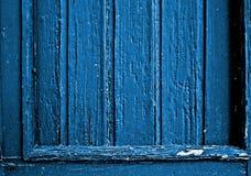 Blue wooden frame Stock Images