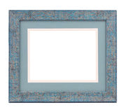 Blue wooden frame. Royalty Free Stock Photo