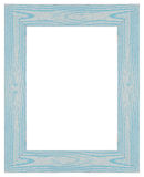 Blue wooden frame Royalty Free Stock Photography