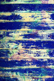 Blue wooden grunge background Stock Photos