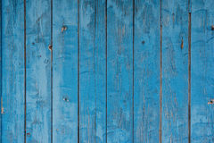 Blue wooden grunge background Stock Images