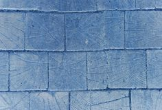 Blue wooden pavage Stock Photography