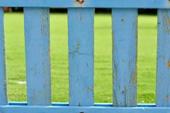 Blue wooden picket fence Royalty Free Stock Image