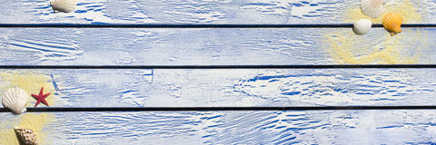 Blue wooden plank Royalty Free Stock Photo