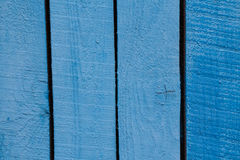 Blue wooden planks closeup background Stock Images
