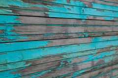 Blue wooden planks. Texture of the old horizontal wooden planks blue Royalty Free Stock Images