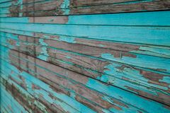Blue wooden planks. Texture of the old horizontal wooden planks blue Stock Photo