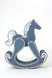 Blue Wooden Rocking Horse Stock Image