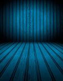 Blue Wooden Room Background Stock Image