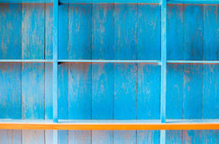 Blue wooden shelf for old house Royalty Free Stock Images