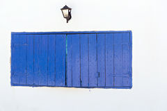 Blue wooden shutters Stock Image