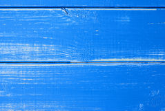 Blue Wooden Slats Background With Copy Space Royalty Free Stock Image