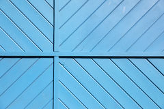 Blue Wooden Slats Background. Painted blue wooden slats composed for background and copy space Royalty Free Stock Photo