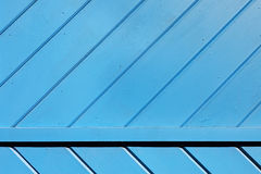 Blue Wooden Slats Background Stock Photo