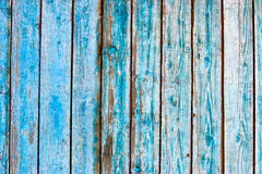 Blue wooden slats Stock Photography