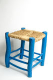 Blue wooden stool Royalty Free Stock Photo