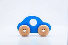Blue Wooden Toy Car Royalty Free Stock Photos