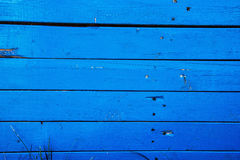 Blue wooden wall background, retro style Stock Images