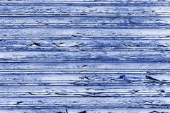 Blue wooden wall planks grunge texture background weathered by long exposure to the elements royalty free stock photos