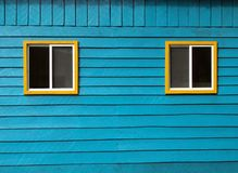 Blue wooden wall Stock Photo