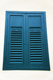 The blue wooden window Stock Photo