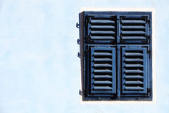 Blue wooden window Royalty Free Stock Photos